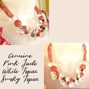 Necklace Jade &  Topaz  STUNNING NWT